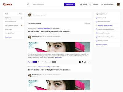 Redesign - Quora (Concept) concept redesign quora