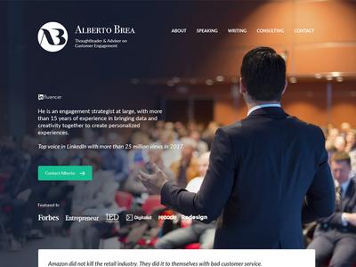 Alberto Brea - Portfolio Design website design portfolio