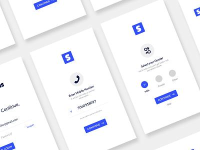Slateus - Mobile App Design registration signup login app mobile