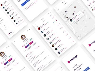 Kheloge - Mobile App Design sports ux ui app mobile
