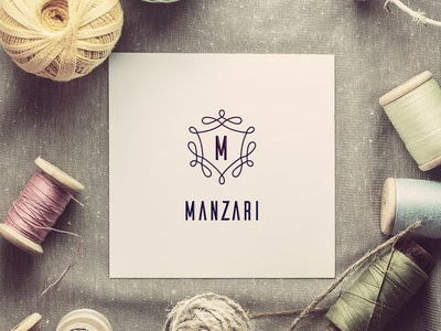 Manzari - Logo Design branding illustration logo design logo fashion