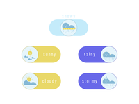Weather states as switch buttons