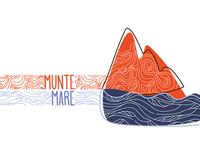 Mountain/Sea/Lake illustration