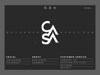 Casa Perfect motion dark landing page website user experience web art interaction design ui ux flat clean simple interface animation
