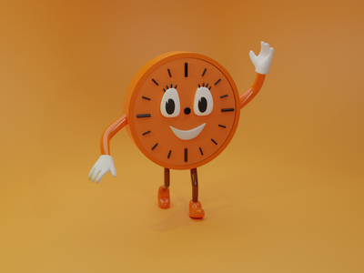 Miss Minutes in 3D from Loki blender clock watch mobiledesign tvseries disneyplus variant missminutes loki 3ddesign 3d design uxdesign ux uidesign ui