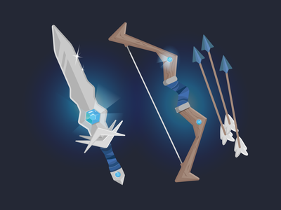 Weapons - MEE6 items item illustration vector illustration figma design adobe vector character illustration character design illustration graphic design ui
