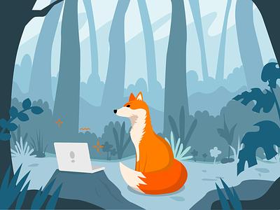 Coding Fox - Foxdeli mascot design mascot web design vector illustration figma design adobe vector character illustration character design illustration