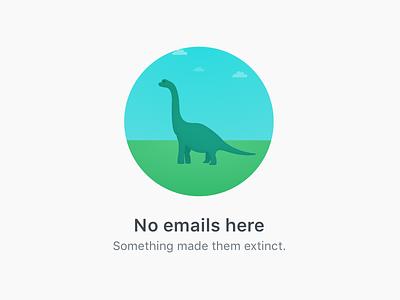 Empty Folder Message extinction brachiosaurus prehistoric jurassic dinosaur email vector art micro-copy blank states illustration