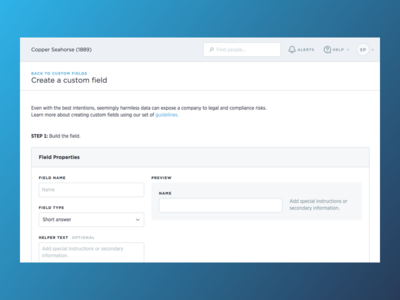 Custom Fields form ui forms field preview single text field properties custom fields fields