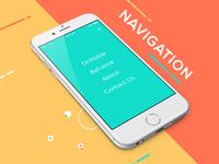 Mobile.design navigation app design concept