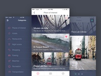 Travel Guide concept app design concept