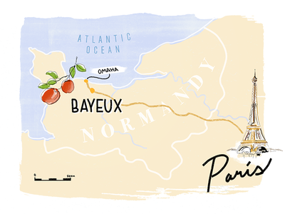 Normandy Roadtrip photoshop normandy france travel paint illustration