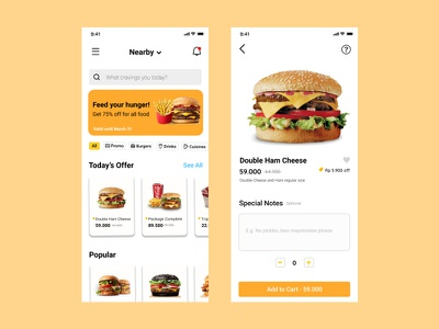 Fast Food Delivery App app mobile app design mobile design user experience user interface delivery app food app