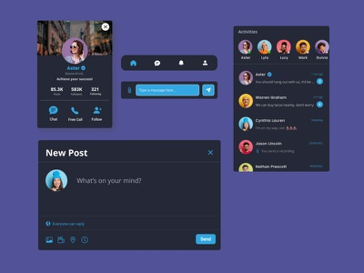 Elements of UI Messenger App elements ui kits illustration mobile design mobile app design user interface user experience