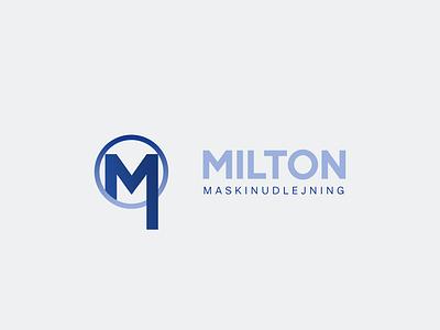 Milton Logo Design abstract minimal modern brand identity motion graphics 3d animation app illustration ui icon vector design minimal logo logo artist logo maker logo design graphic design branding logo