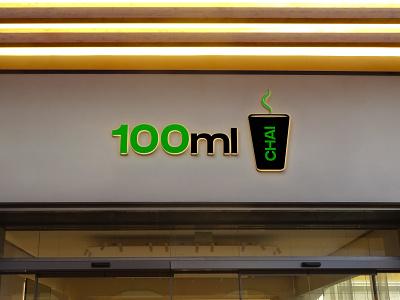 100ML LOGO 2 (Tea Shop) motion graphics logo design vector ui illustration 3d app animation logo graphic design design branding