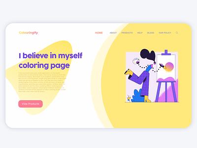 Colouringify UI ui designer ux experience ux design ui design ui ux app vector illustration logo graphic design design branding ui