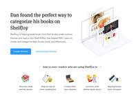 ShelfJoy's landing page based on JTBD framework - Part 5 🖐 📚