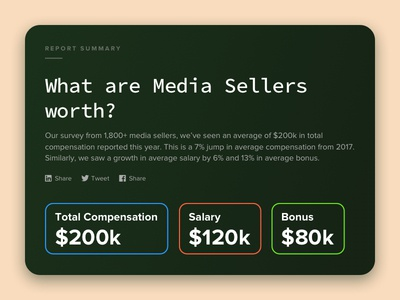 Landing page for Compensation report - SellerCrowd - 2/N