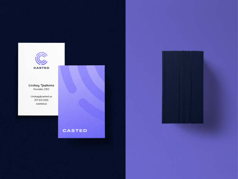 Casted Business Cards logo branding