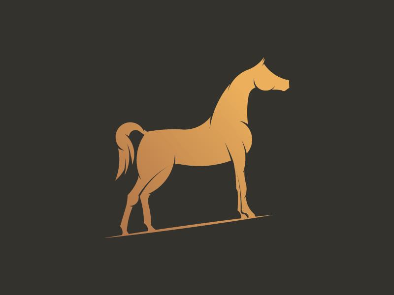 horse body mascot logo