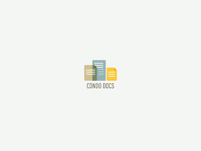 Condo Docs Logo documents buildings lockup logo