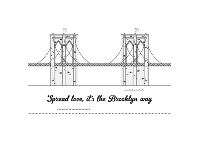 Spread Love love biggie the notorious b.i.g. brooklyn bridge
