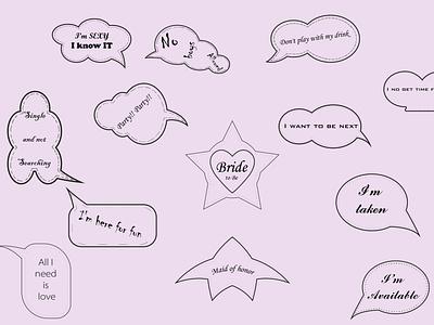 Bridal Shower fun Quotes illustration