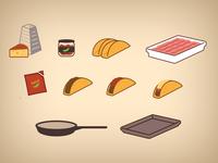 Turkey Taco Icons