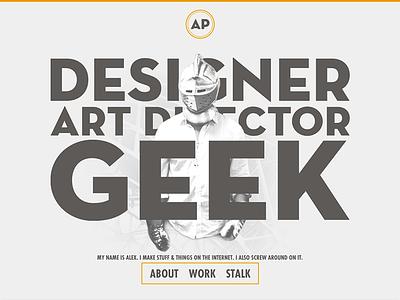 The Geek Designer v7 portfolio web design typography depth homepage
