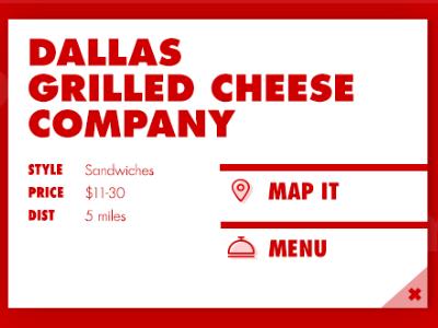 Restaurant Info Card web design typography info lunch food ux modal ui card