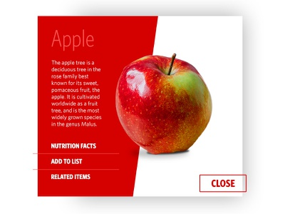 Day1 daily ui 100 daily design challenge food apples ui