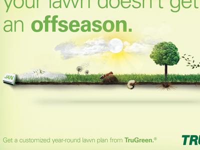 Seasonal Timeline Signage green photo composite illustration grass signage poster
