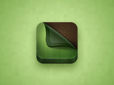 iPad Lawn App Icon lawn grass soil ios icon app green turf ipad ios icon
