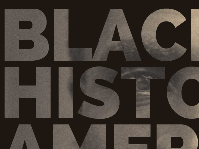 American History Preview black history america web design typography