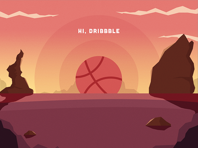 Going into the Dribbble - First shot!
