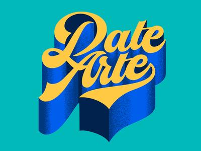 Date Arte lettering