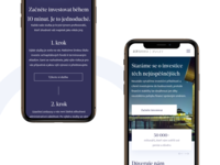 Mobile version of redesign concept for private bank