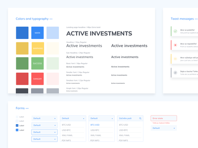 Small part of styleguide for crypto trading app... admin template admin dashboard admin panel ux ui ux design design styleguides styleguide