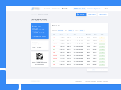 Wallet for crypto trading app