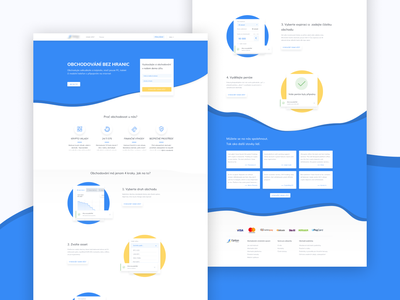 Landing page for crypto bidding platform landing page ui redesign admin panel crypto exchange crypto trading design finance business ux design