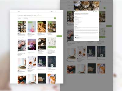 """It's like Pinterest for recipes"" landing page detail recipes recipe book recipe card recipe app recipe design redesign concept redesign"