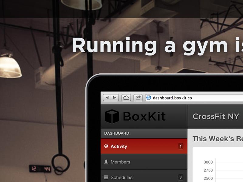 BoxKit crossfit fitness website css sass