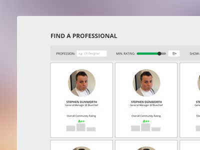Excelerate Concept - Search And Filter search filter ui design layout web design rating compare