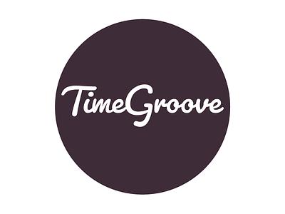 Logo Design: TimeGroove typography branding identity flat app design logo