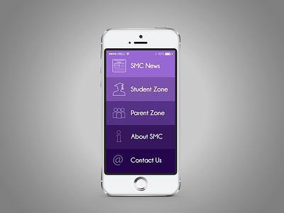 Mobile School App news student iphone apple ios college school app ui mobile