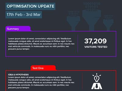 Optimisation Report Template communication infographic data conversion rate optimisation conversion ab test report optimisation