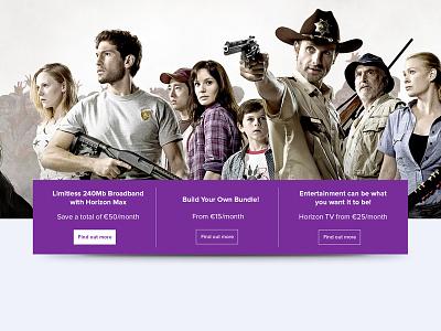 UPC Homepage landing page ecommerce web design design ux ui tv