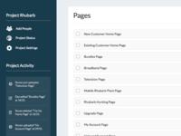 Web App Page List
