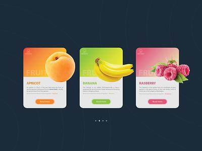 Daily UI #1 - Fruit website ultra ui store sketch modern metro material levitating futuristic flat design